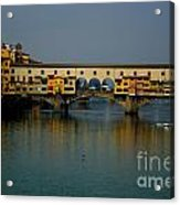 Bridge In Florence Acrylic Print
