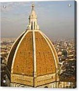 Brunelleschi's Dome At The Basilica Di Santa Maria Del Fiore Acrylic Print