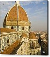 Brunelleschi's Dome At The Florence Cathedral  Acrylic Print
