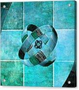 3 By 3 Ocean Rings Acrylic Print