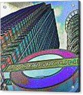 Canary Wharf London Art Acrylic Print