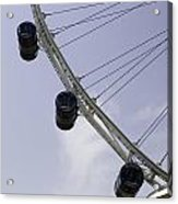 3 Capsules Of The Singapore Flyer Along With The Spokes And Base Acrylic Print
