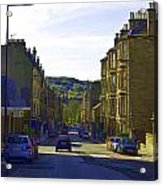 Car In A Queue Waiting For A Signal In Edinburgh Acrylic Print