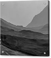 Cars And Other Vehicles In The Scottish Highlands Acrylic Print