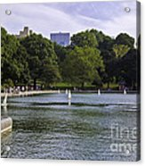 Central Park Pond Acrylic Print