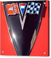 Chevrolet Corvette Hood Emblem Acrylic Print