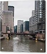Chicago Skyline And Streets Acrylic Print