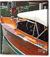Chris Craft Runabout On Geneva Acrylic Print