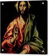 Christ Blessing Acrylic Print