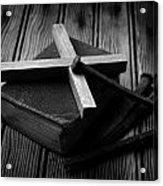 Christian Cross And Rusty Nails Acrylic Print