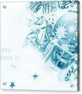 Christmas Balls Decoration Acrylic Print