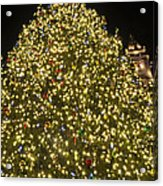 Christmas Tree Ornaments Faneuil Hall Tree Boston Acrylic Print