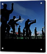 Cincinnati Reds V Boston Red Sox 3 Acrylic Print