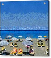 Beach At The City Of Rhodes Acrylic Print
