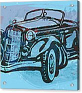 Classical Car Stylized Pop Art Poster Acrylic Print