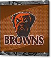Cleveland Browns Acrylic Print by Joe Hamilton