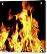 Close-up Of Fire Flames Acrylic Print