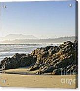 Coast Of Pacific Ocean On Vancouver Island Acrylic Print
