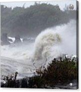 Coastal Wave During Typhoon Usagi Acrylic Print