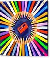 Colorful Pencils Acrylic Print