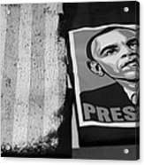 Commercialization Of The President Of The United States Of America In Black And White Acrylic Print