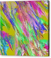 Computer Generated Abstract Fractal Flame Acrylic Print