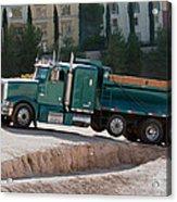 Construction Truck Acrylic Print