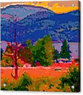 Cowichan Bay From Doman's Road Acrylic Print