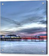 Cromer Pier At Sunrise On English Coast Acrylic Print by Fizzy Image