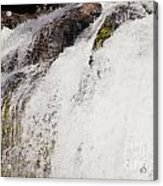 Curtain Of White Water Falling From Rocky Cliff Acrylic Print