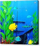 3-d Aquarium Acrylic Print