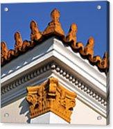 Decorative Roof Tiles In Plaka Acrylic Print