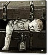 Doll In Suitcase Acrylic Print