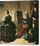 Dominguez Becquervaleriano 1834-1870 Acrylic Print by Everett
