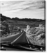 Driving Along The White Domes Road In Valley Of Fire State Park Nevada Usa Acrylic Print