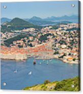 Dubrovnik, Croatia. Overall View Of Old Acrylic Print