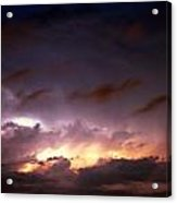 Dying Storm Cells With Fantastic Lightning Acrylic Print