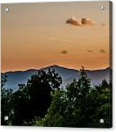Early Morning Sunrise Over Blue Ridge Mountains Acrylic Print