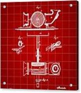 Edison Phonograph Patent 1878 - Red Acrylic Print