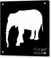 Elephant In Black And White Acrylic Print
