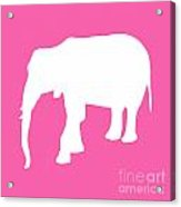 Elephant In Pink And White Acrylic Print