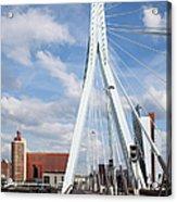 Erasmus Bridge In Rotterdam Acrylic Print