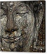 Face Of Buddha Acrylic Print