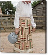Farm Woman  Acrylic Print by Jim Pruitt