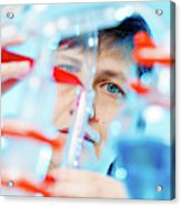 Female Chemist In Lab Acrylic Print