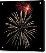 Fire Works Acrylic Print by Devinder Sangha