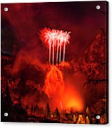 Fireworks Above Toce Falls, Formazza Acrylic Print