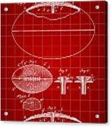 Football Patent 1902 - Red Acrylic Print