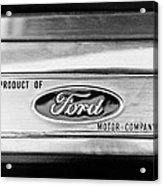 Powered By Ford Emblem -0307bw Acrylic Print
