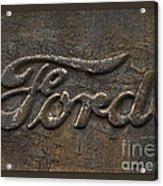 Ford Tough Antique Truck Logo Acrylic Print